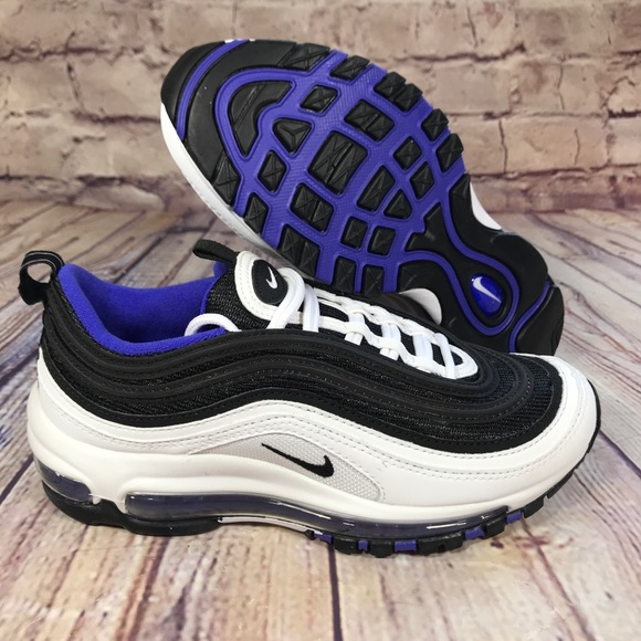 finest selection 16e8f f21d0 NIKE Air Max 97 White/Black/Persian Violet 4Y